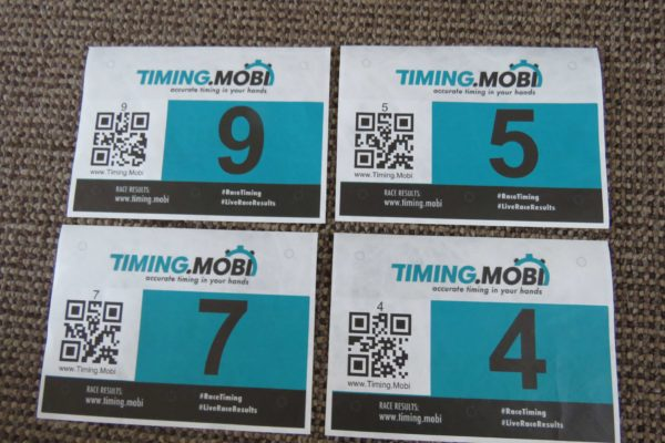 4 – Tyvek Race numbers