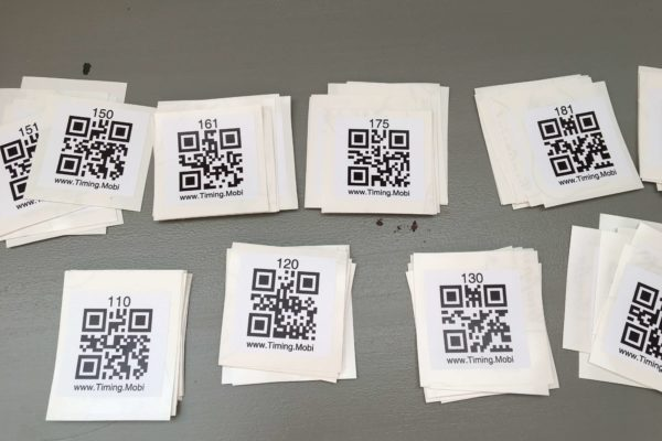 6 – Vinyl stickers for QR race Numbers