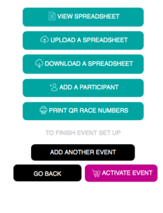 Items showing what you can do with your participant list.